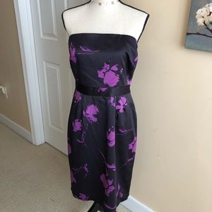 NWT Banana Republic Floral Strapless Dress